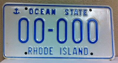 RHODE ISLAND Sample License Plate (00-000)