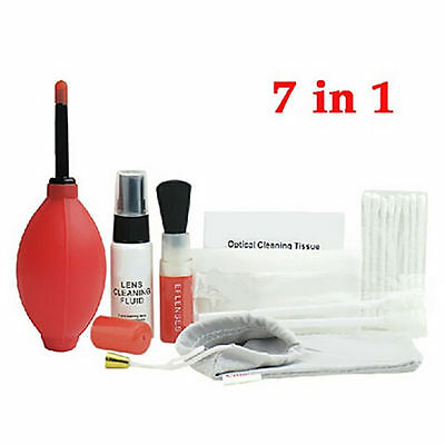 7 in 1 Lens Cleaning Kit Cloth Brush For Digital Camera Canon Nikon DSLR