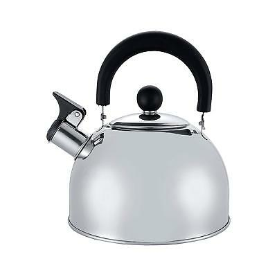 New 2 L Stainless Steel Whistling Kettle kitchen/Home Camping Gas Hob Silver