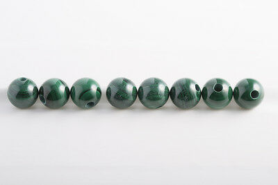 Malachite - Sfere 10mm / traforate Pozzo trivellato 2,5mm