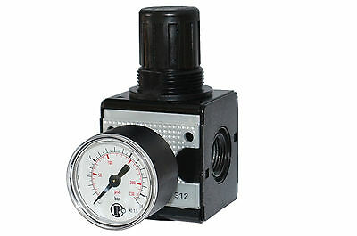 Druckluft-Regler Pressure Regulator Reducer 1/4 - 1 M.Manometer Series Multi Fix