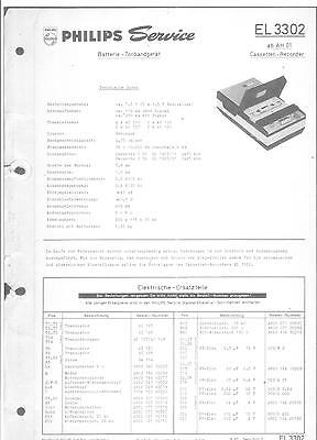 Philips Service Manual für EL 3302