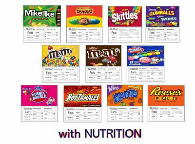 12 HD Laminated 2.5 x 2.5 Vending Labels NUTRITION