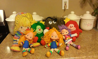 Vintage Lot of  RAINBOW BRITE Dolls  Hallmark Mattel