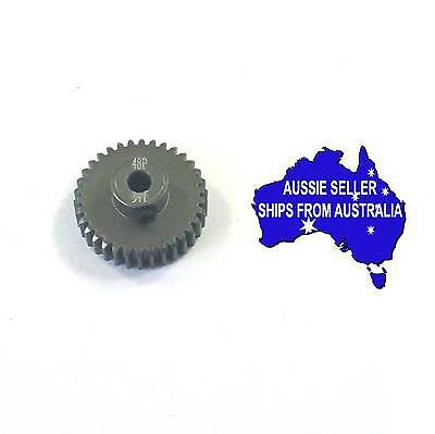 34T Titanium coated aluminium 48dp pinion gear for 1:10 RC 34 tooth 48 pitch.