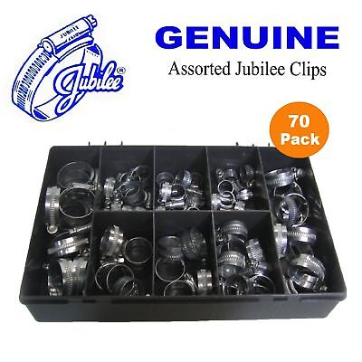 70  x Genuine Assorted Jubilee Clips Worm Drive, Jubilee hose clip clamps