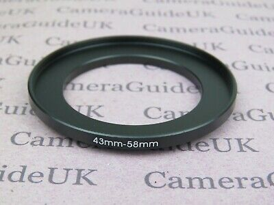 43mm to 58mm 43mm-58mm Stepping Step Up Filter Ring Adapter