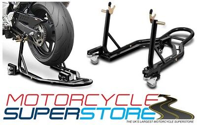 Motorcycle Motorbike 360* Rear Floating Paddock Stand Dolly Mover