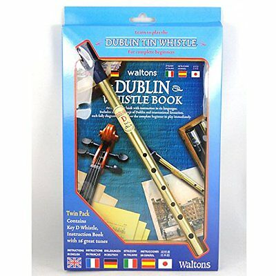 Irish Brass Dublin Tin Whistle - Twin Pack