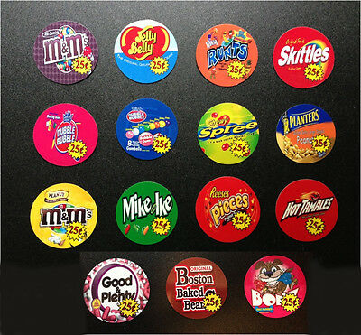 "18 Vinyl Peel Stick  2"" Round Bulk Vendstar 3000 Vending Labels Stickers"