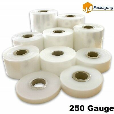335m Layflat Polythene Poly Tubing Tube Plastic Packaging 250g *ALL SIZES & QTYS