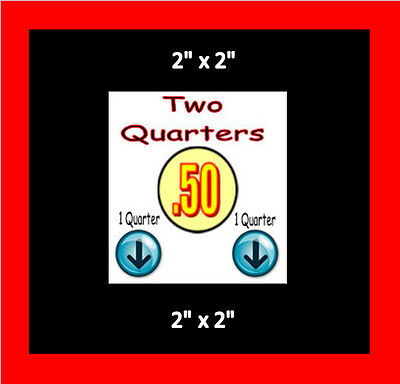 8   .50 cent Vending Label Price Stickers Candy Gumball