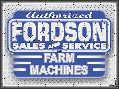 Fordson Farm Machines Tractor Dealer Neon Style Printed Banner Sign Art 4 X 3