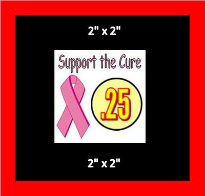 8   Support the Cure Vending Label Price Stickers Candy Gumball