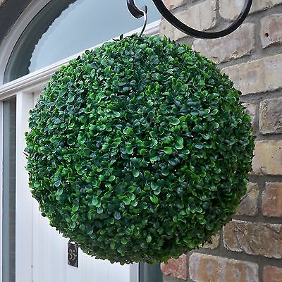 Best Artificial 35cm Green Boxwood Buxus Topiary Ball grass hanging flower new