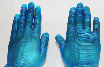 1000 Pcs Large Size Blue Vinyl Gloves Powdered For General Uses