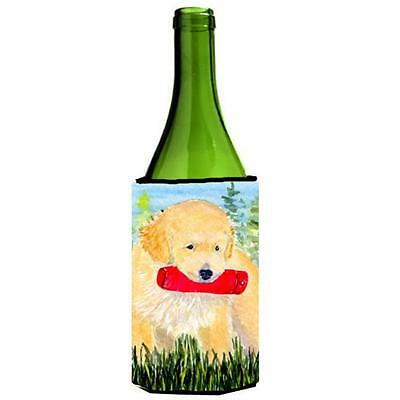 Carolines Treasures SS8858LITERK Golden Retriever Wine Bottle Hugger