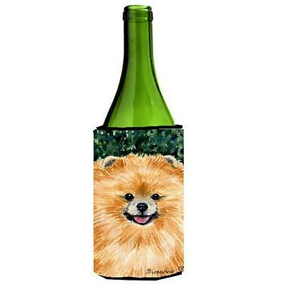 Carolines Treasures SS8725LITERK Pomeranian Wine bottle sleeve Hugger 24 Oz.
