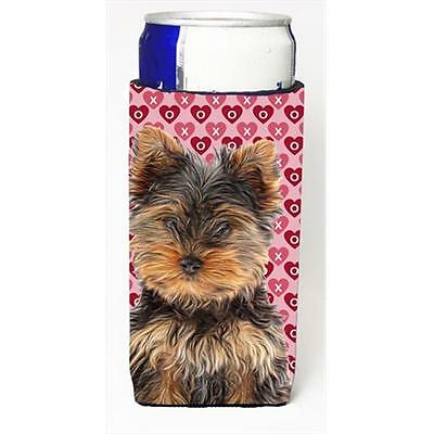 Hearts Love and Valentines Day Yorkie Puppy & Yorkshire Terrier Michelob Ultr...
