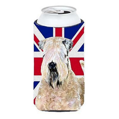 Wheaten Terrier Soft Coated With English Union Jack British Flag Tall Boy bot...
