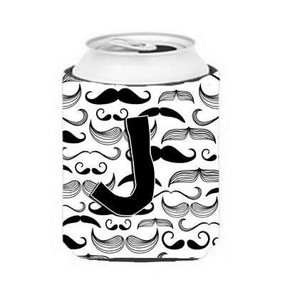 Carolines Treasures CJ2009-JCC Letter J Moustache Initial Can & Bottle Hugger