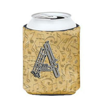 Carolines Treasures Letter A Musical Instrument Alphabet Can & Bottle Hugger