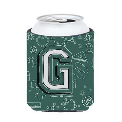Carolines Treasures Letter G Back To School Initial Can & Bottle Hugger