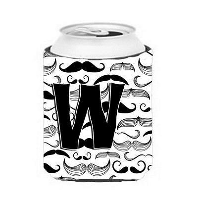Carolines Treasures CJ2009-WCC Letter W Moustache Initial Can & Bottle Hugger
