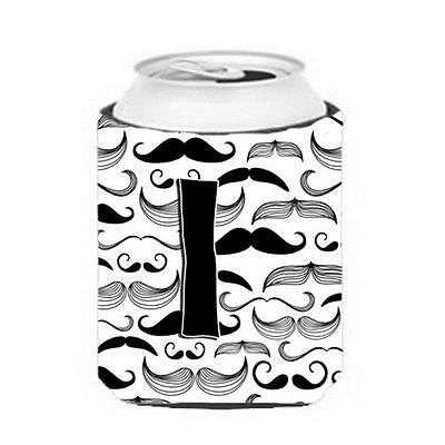 Carolines Treasures CJ2009-ICC Letter I Moustache Initial Can & Bottle Hugger