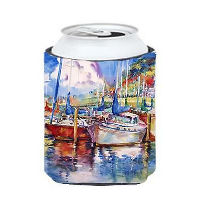 Carolines Treasures JMK1247CC Tree Boats Sailboats Can & Bottle Hugger