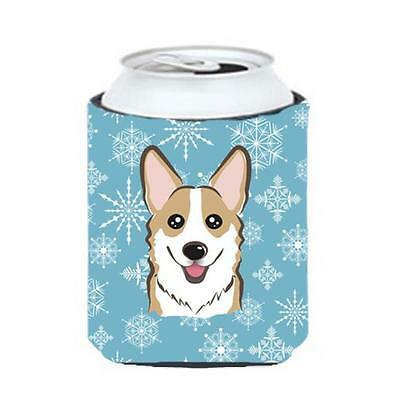 Carolines Treasures BB1687CC Snowflake Sable Corgi Can & Bottle Hugger