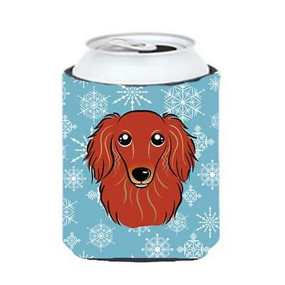 Carolines Treasures Snowflake Longhair Red Dachshund Can & Bottle Hugger