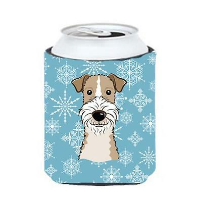 Carolines Treasures Snowflake Wire Haired Fox Terrier Can & Bottle Hugger