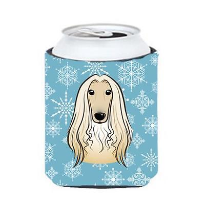 Carolines Treasures BB1678CC Snowflake Afghan Hound Can & Bottle Hugger