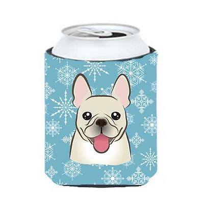 Carolines Treasures BB1672CC Snowflake French Bulldog Can & Bottle Hugger