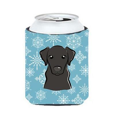 Carolines Treasures BB1669CC Snowflake Black Labrador Can & Bottle Hugger