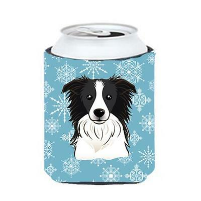 Carolines Treasures BB1675CC Snowflake Border Collie Can & Bottle Hugger