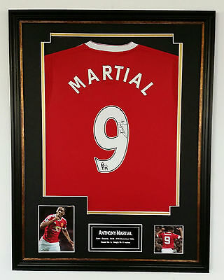 * NEW Anthony Martial of Manchester United Signed Shirt Autograph Display *