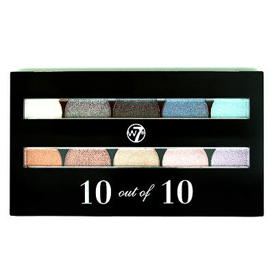 W7 Cosmetics 10 out of 10 Assorted Eyeshadow Palette Brown, Nude, Cream, Beige