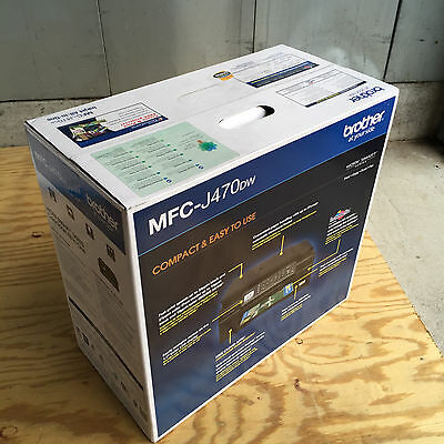 Brand New Brother MFC-J470DW Wireless All-In-1 Inkjet Printer Fax Replace J425W