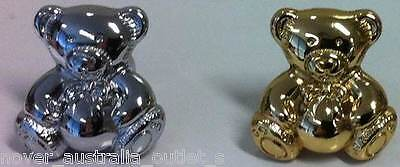 Teddy Bear Knobs (14 Pieces) - Available In 2 Finishes: Polished Chrome & Gold