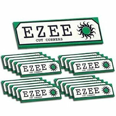 Ezee Green Standard Size Cigarette Rolling Papers - 10 Booklets Smoking Fresh UK