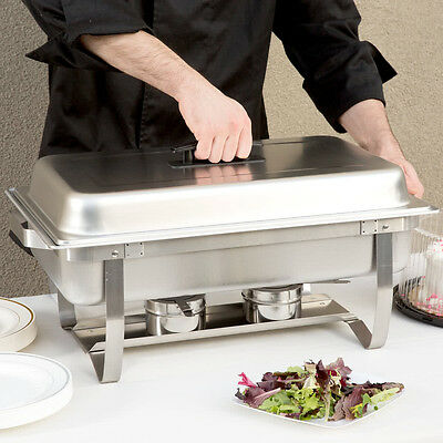 Choice Economy 8 Qt. Full Size Stainless Steel Chafer with Folding Frame