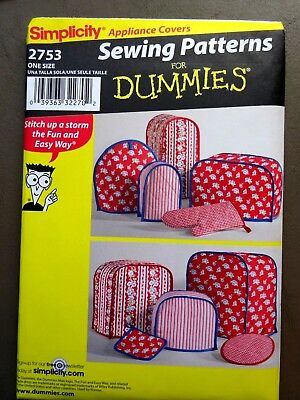 Simplicity #2753 Sewing For Dummies Kitchen Accessory Covers Pattern