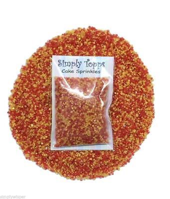 Red & Gold Blend 30g Sparkling Sugar Cake Sprinkles Decoration Chinese New Year