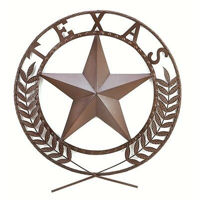 Texas Star Wall Plaque Rustic Metal Large Outdoor Artwork Decor Iron Lone modern