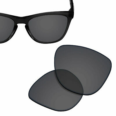 Polarized Replacement Lenses for-OAKLEY Frogskins Sunglasses Solid Black UVA&UVB
