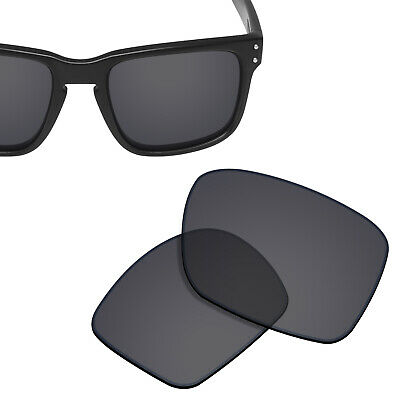 Polarized Replacement Lenses for-OAKLEY Holbrook Sunglasses Solid Black UVA&UVB