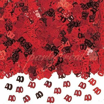 40th 40 Anniversary Confetti Ruby Red Decorations Table Scatters Party Supplies
