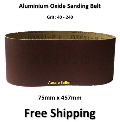 12pcs 75mm X 457mm Sanding Belts 80 120 180 Mixed Grit Heavy Duty Cloth Backed